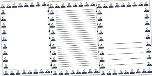 Tim Berners Lee Page Borders - tim berners lee, page borders, writing frames, lined pages, writing guide, writing template, themed writing frame, writing