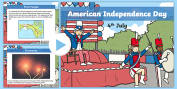 American Independence Day Primary Resources - USA 4th July America