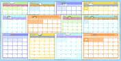 Monthly Calendar Planning Template 2017