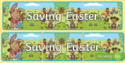 * NEW * Saving Easter Display Banner