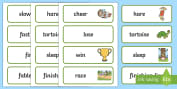 The Tortoise and The Hare Word Cards