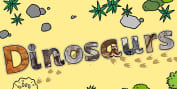 Dinosaurs Photo Display Lettering