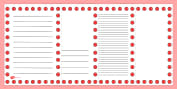 Red Nose Day Page Borders
