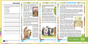 * NEW * KS1 Saving Easter Differentiated Reading Comprehension Activity