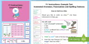 * NEW * Y1 Instructions Model/Example Text