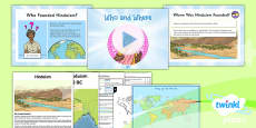 PlanIt - RE Year 3 - Hinduism Lesson 1: Who and Where Lesson Pack