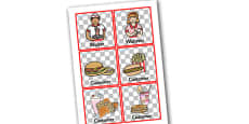 American Diner Role Play Badges