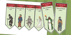 A Christmas Carol Editable Bookmarks