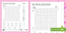 Valentine's Day Middle Ability Differentiated Word Search