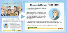 American Presidents Information PowerPoint
