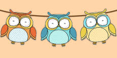 Superb Owl Themed Bunting