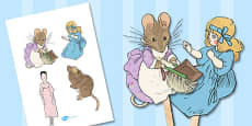 The Tale of Two Bad Mice Stick Puppets (Beatrix Potter)