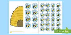 * NEW * Bee Counters and Beehive Activity Sheet