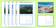 UK Hills and Mountains Postcards