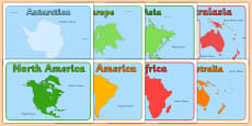 Continent And Ocean Editable Group Signs