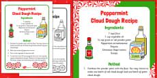 Peppermint Cloud Dough Recipe