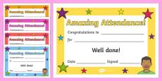 *NEW* Full Attendance Certificate