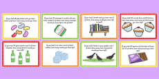 KS1 Subtraction Word Problem Challenge Cards