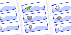 Finland Themed Editable Drawer-Peg-Name Labels