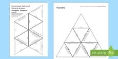 Instrumental Methods of Chemical Analysis Tarsia Triangular Dominoes