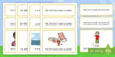 Propoziții simple despre vară Cartonașe