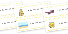 Alphabet Strips (Summer)
