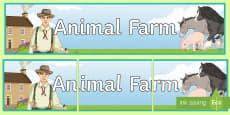 Animal Farm Display Banner