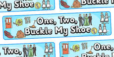 One Two Buckle My Shoe Display Banner