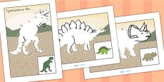 Dot to Dot Sheets Dinosaurs