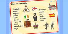 Elizabeth I Word Mat