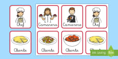 Chapas de juego de rol: El restaurante