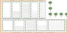 Mulberry Tree Themed Page Borders