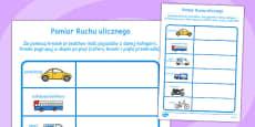 Traffic Survey Activity Sheet Polish