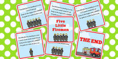 Five Little Firemen Counting Song Sequencing