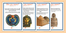 Ancient Egypt Fun Facts Posters Romanian Translation