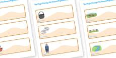 The Magic Porridge Pot Small Editable Drawer Peg Name Labels