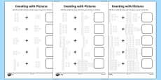 Counting with Pictures Differentiated Activity Sheet Pack