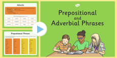 Prepositional and Adverbial Phrases Presentation