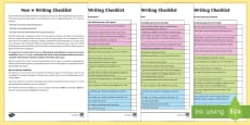 Year 4 Writing Checklist