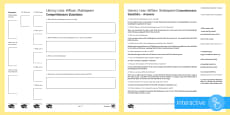 * NEW * Literary Lives: William Shakespeare Differentiated Comprehension Go Respond Activity Sheets