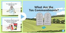 * NEW * The Ten Commandments PowerPoint