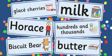 Word Cards to Support Teaching on Biscuit Bear