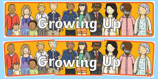 Growing Up Display Banner