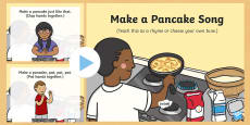 Make a Pancake Action Rhyme Song PowerPoint
