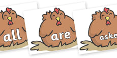 Tricky Words on Chickens