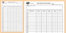 Class Behaviour Record Chart