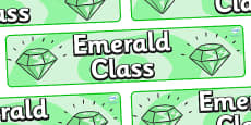 Emerald Themed Classroom Display Banner