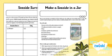 PlanIt - Geography Year 2 - Beside the Seaside Home Learning Tasks