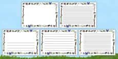 Minibeasts Full Page Borders (Landscape)
