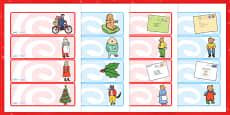 Editable Drawer Peg Name Labels to Support Teaching on The Jolly Christmas Postman